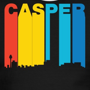 Retro 1970's Style Casper Wyoming Skyline - Men's Ringer T-Shirt