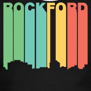 Retro 1970's Style Rockford Illinois Skyline - Men's Ringer T-Shirt