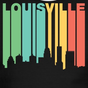 Retro 1970's Style Louisville Kentucky Skyline - Men's Ringer T-Shirt