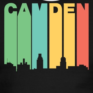 Retro 1970's Style Camden New Jersey Skyline - Men's Ringer T-Shirt