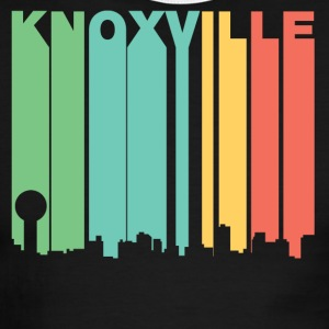 Retro 1970's Style Knoxville Tennessee Skyline - Men's Ringer T-Shirt