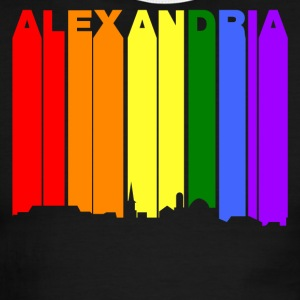 Alexandria Virginia Gay Pride Rainbow Skyline - Men's Ringer T-Shirt