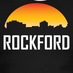 Rockford Illinois Sunset Skyline - Men's Ringer T-Shirt