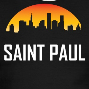 Saint Paul Minnesota Sunset Skyline - Men's Ringer T-Shirt