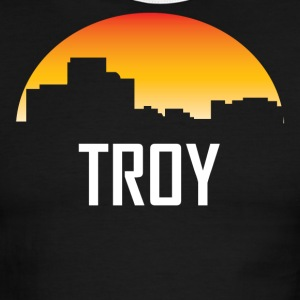 Troy Michigan Sunset Skyline - Men's Ringer T-Shirt