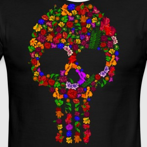 Floral Sugar Skull - Men's Ringer T-Shirt