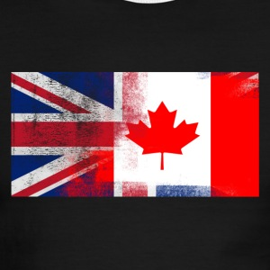 British Canadian Half Canada Half UK Flag - Men's Ringer T-Shirt