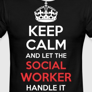 Keep Calm And Let Social Worker Handle It - Men's Ringer T-Shirt