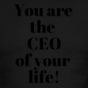 You are the CEO of your life - Men's Ringer T-Shirt