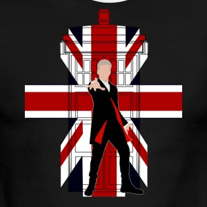 Union Jack British Flag with Doctor - Men's Ringer T-Shirt