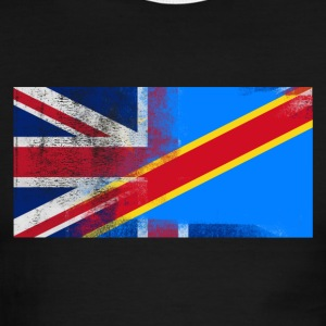 British Congolese Half Congo Half UK Flag - Men's Ringer T-Shirt