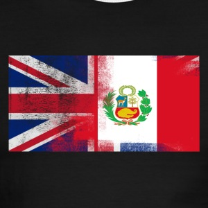 British Peruvian Half Peru Half UK Flag - Men's Ringer T-Shirt