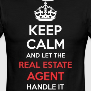Keep Calm And Let Real Estate Agent Handle It - Men's Ringer T-Shirt