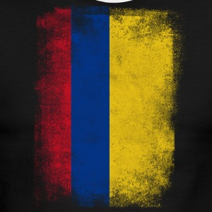 Colombia Flag Proud Colombian Vintage Distressed - Men's Ringer T-Shirt