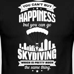 You can´t buy happiness but you can go Skydiving - Men's Ringer T-Shirt