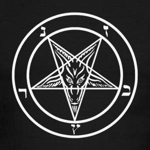 Satanic Pentagram - Men's Ringer T-Shirt