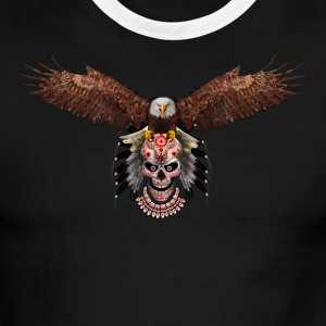 Indian Native Flying Eagle - Men's Ringer T-Shirt