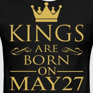 Kings are born on May 27 - Men's Ringer T-Shirt