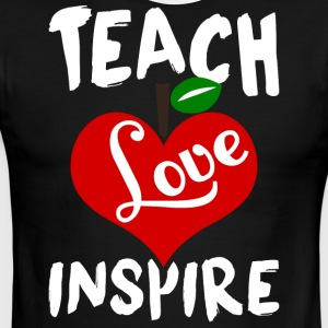 Teach Love Inspire T Shirt - Men's Ringer T-Shirt
