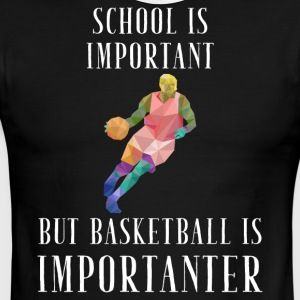 School is important but basketball is importanter - Men's Ringer T-Shirt