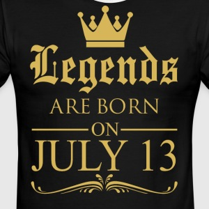 Legends are born on July 13 - Men's Ringer T-Shirt