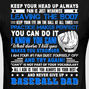 Baseball Dad Tells It Like It Is Shirt - Men's Ringer T-Shirt