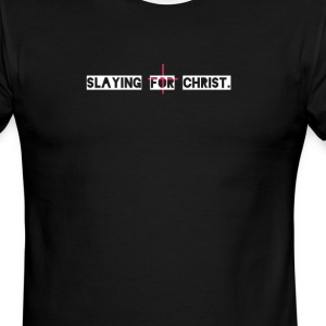 Slaying for Christ - Men's Ringer T-Shirt