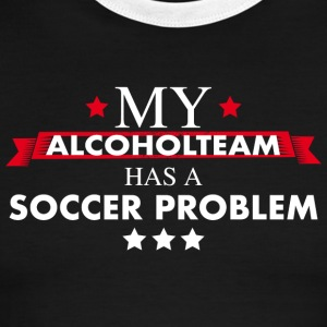 Soccer Alcohol Team - Men's Ringer T-Shirt