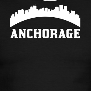 Vintage Style Skyline Of Anchorage AK - Men's Ringer T-Shirt