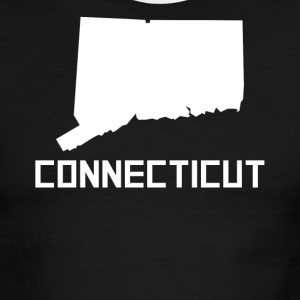 Connecticut State Silhouette - Men's Ringer T-Shirt