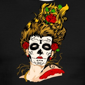 The Day of The Dead Skull Face - Men's Ringer T-Shirt