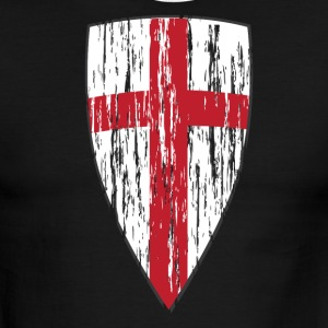 Crusader Shield Flag - Men's Ringer T-Shirt