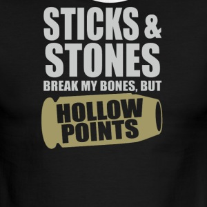 Sticks And Stones But Hollow points - Men's Ringer T-Shirt