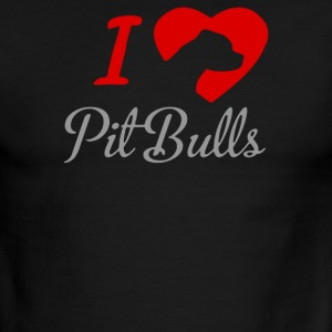 I LOVE PITBULLS ITS PEOPLE THAT ANNOY ME - Men's Ringer T-Shirt