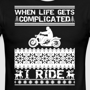 Biker Christmas Tee Shirt - Men's Ringer T-Shirt