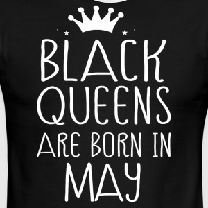 Black queens are born in May - Men's Ringer T-Shirt