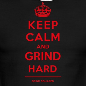 Keep Calm - Grind Hard Red - Men's Ringer T-Shirt