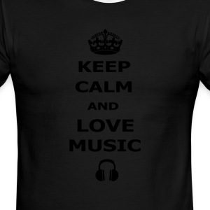 keep calm and love music - Men's Ringer T-Shirt