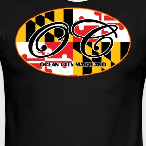 Ocean City Maryland Flag Design - Men's Ringer T-Shirt