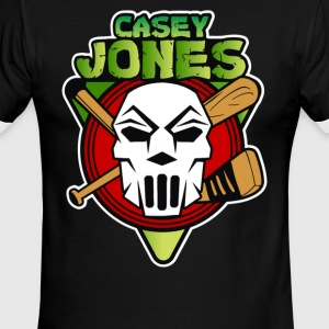 Skull CASEY JONES Cyber System - Men's Ringer T-Shirt