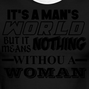 man's world design - Men's Ringer T-Shirt