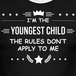 The Youngest The Rules Don't Apply to Me T Shirt - Men's Ringer T-Shirt