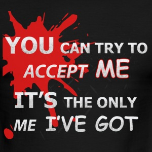 You Can Try To Accept Me (black) - Men's Ringer T-Shirt