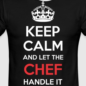 Keep Calm And Let Chef Handle It - Men's Ringer T-Shirt