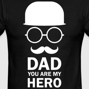 Dad You Are My Hero And Moustache - Men's Ringer T-Shirt
