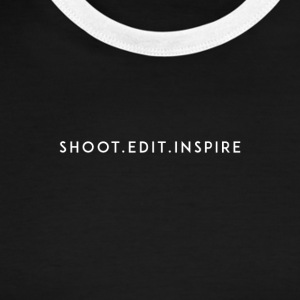 shoot edit inspire large - Men's Ringer T-Shirt