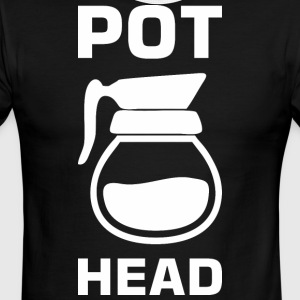 Pot Head Coffee Tea Lover - Men's Ringer T-Shirt