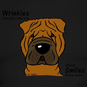 Wrinkles merely indicate where smiles have been - Men's Ringer T-Shirt