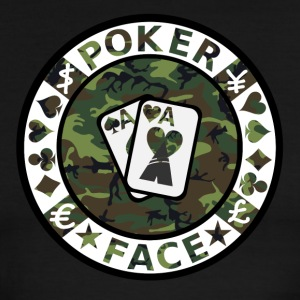 POKER FACE - Men's Ringer T-Shirt