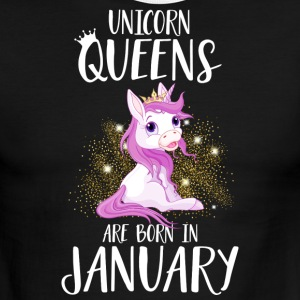 UNICORN QUEENS ARE BORN IN JANUARY - Men's Ringer T-Shirt